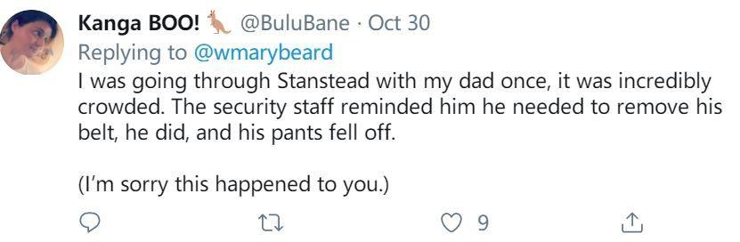 粉丝网友分享机场安检尴尬经历