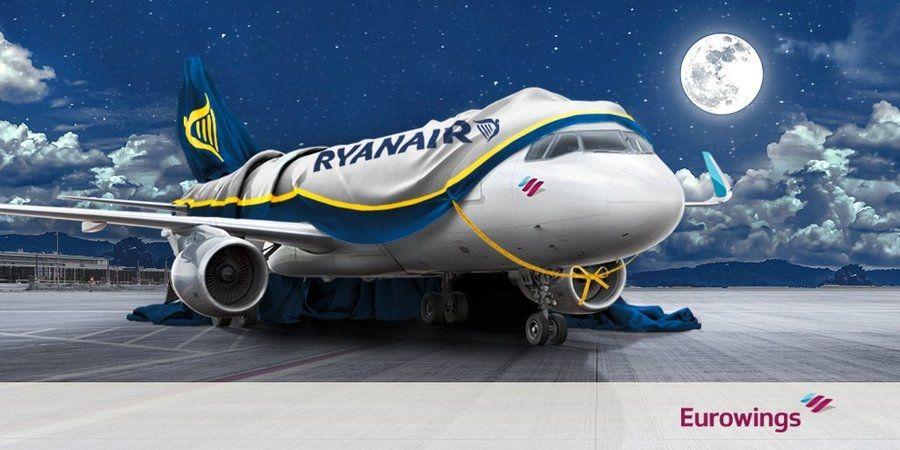 Eurowings航空发布的万圣节恶搞装扮