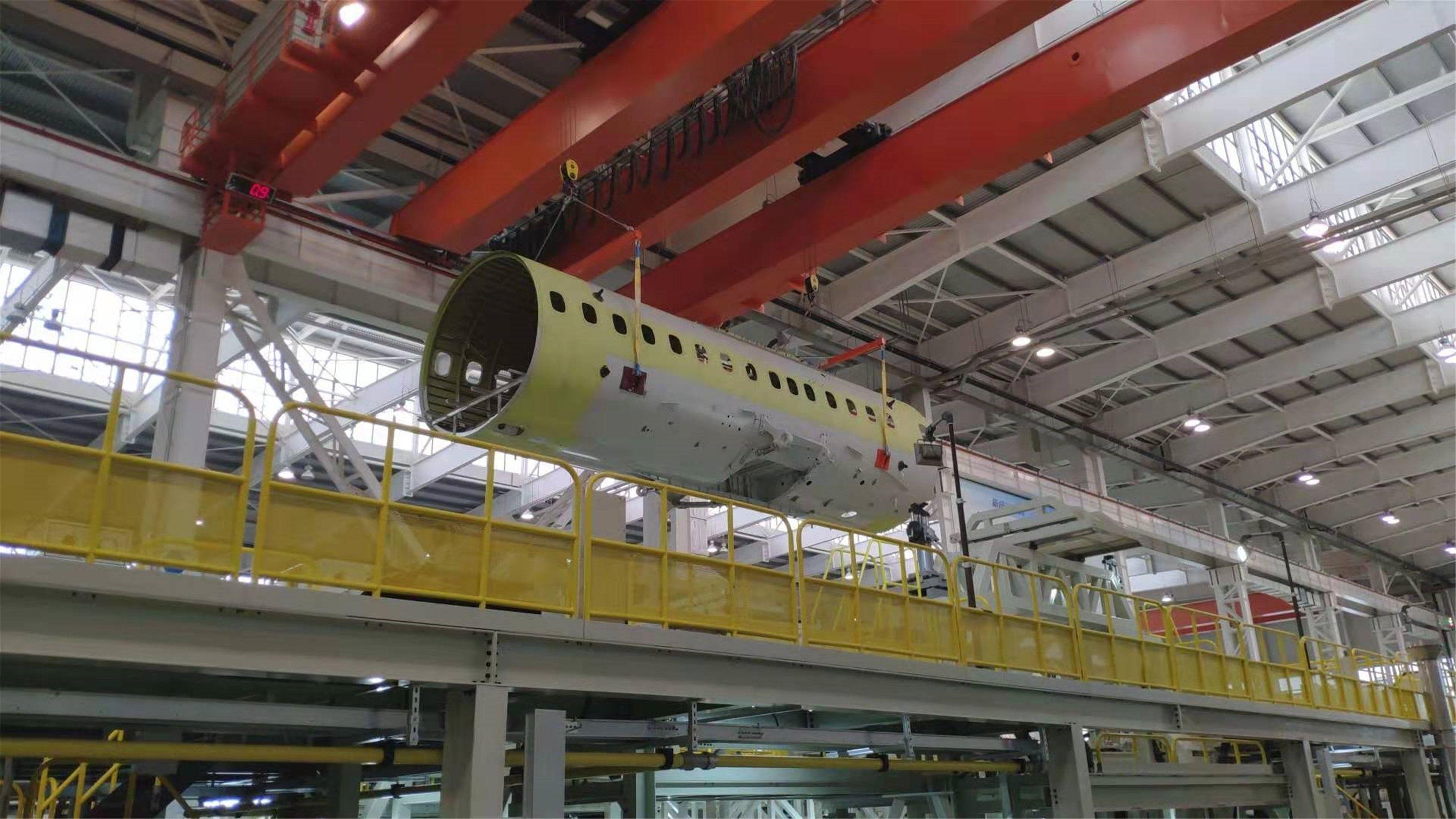 新舟700中机身          西飞民机供图