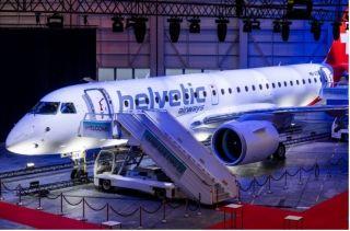 赫爾維蒂航空慶祝接收首架由普惠GTF™發動機提供動力的巴航工業E190-E2飛機