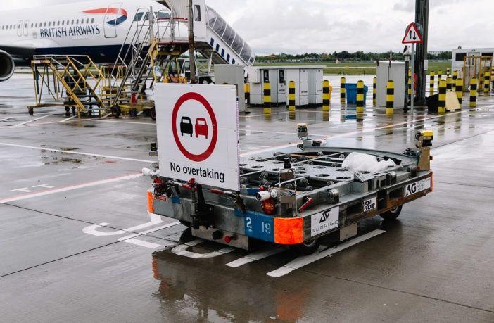 英航在希思罗机场测试无人驾驶行李拖车