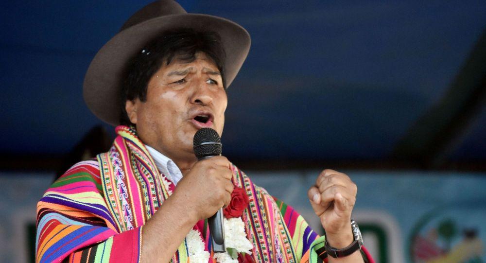 视频:因机械故障 载玻利维亚总统直升机紧急降落