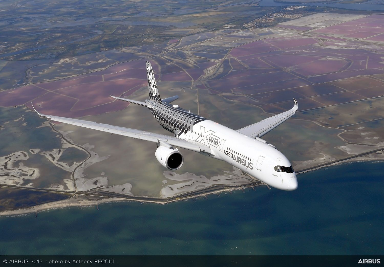 图片 空客将在天津开展A350客机完工交付业务