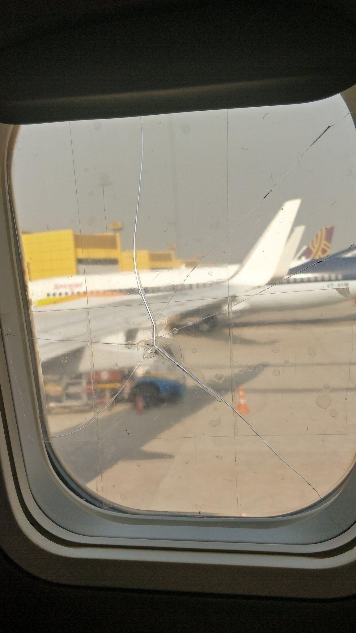 客舱玻璃用透明胶修复? 香料航空道歉