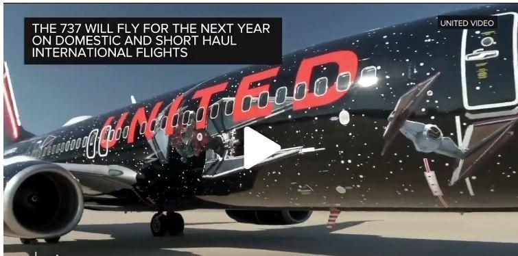 视频:太帅!美联航星球大战涂装变身过程
