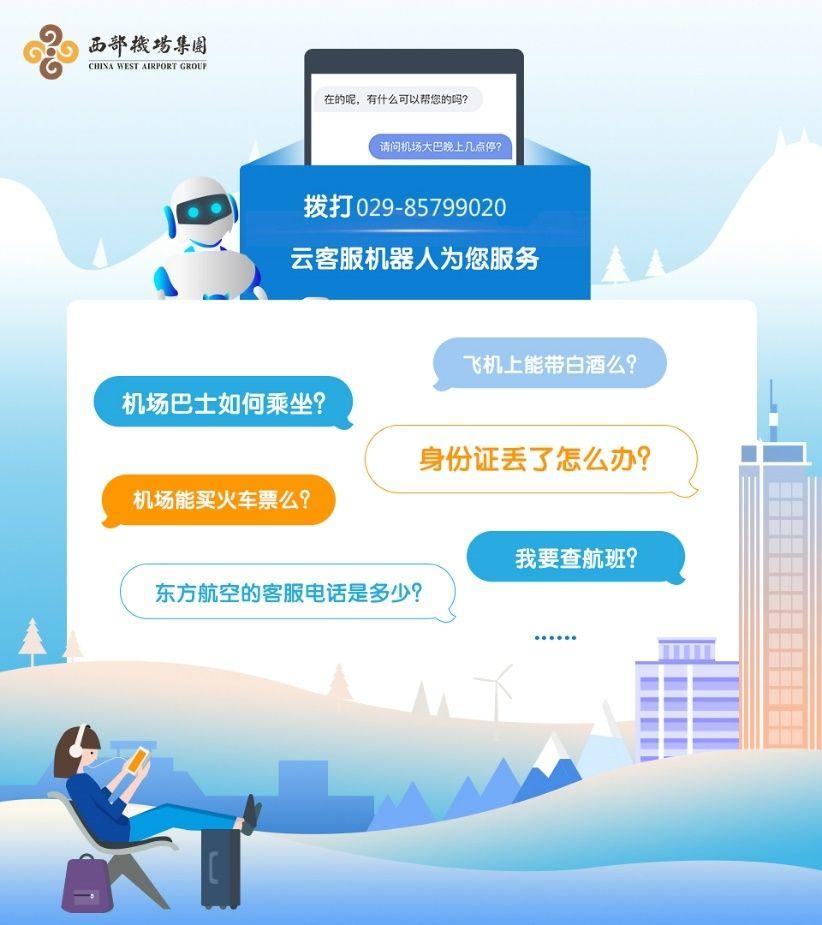 西安咸阳国际机场云客服机器人语音问询服务