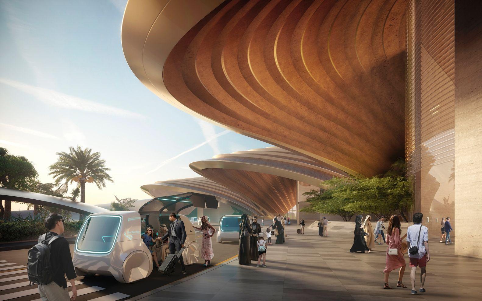 新红海机场设计方案出炉!100%采用可再生能源