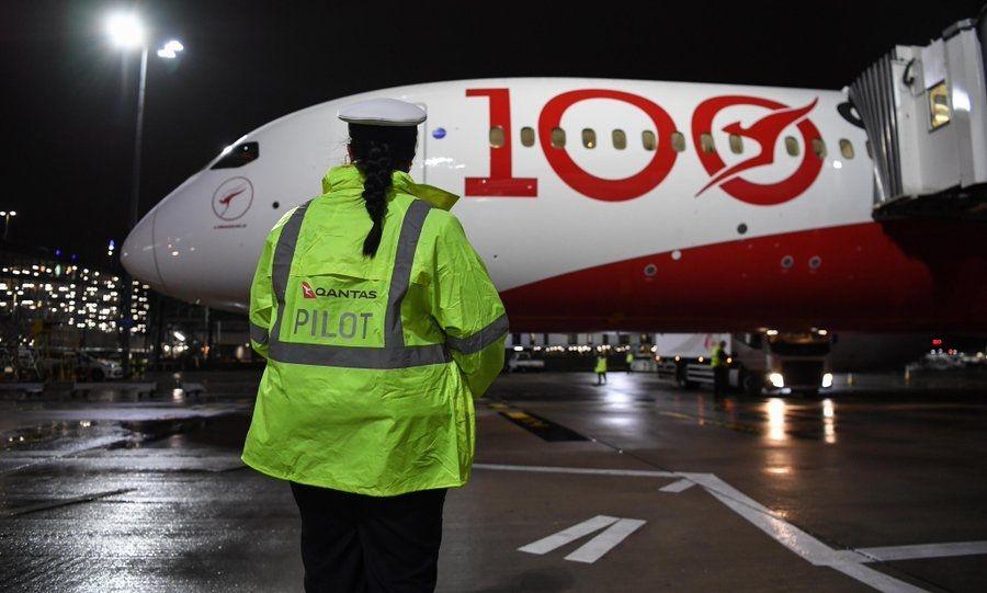 澳航伦敦-悉尼超长距离直飞试航客机