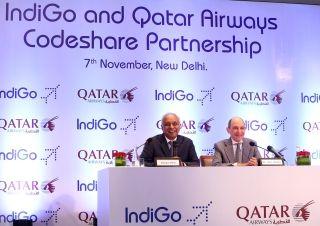 卡塔爾航空與印度靛藍航空簽署代碼共享合作協議