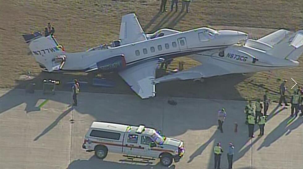 匪夷所思!两架塞斯纳在圣安东尼奥国际机场相撞