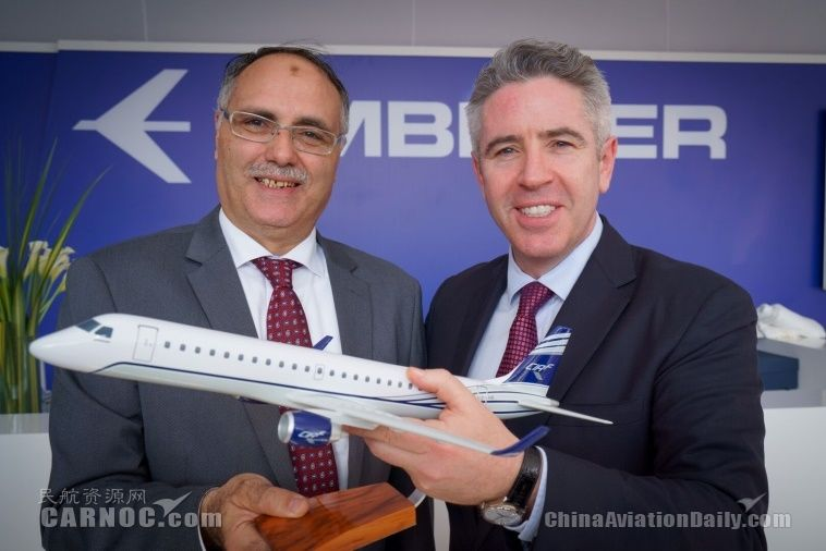 CIAF租賃公司與巴航工業簽署3架E190飛機確認定單