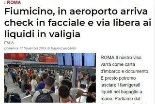 """告别护照和登机牌!11月底起,罗马机场开始""""刷脸""""登机!"""