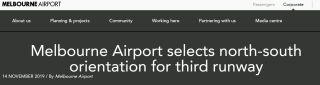 墨爾本機場將建第三跑道 確定為南北走向
