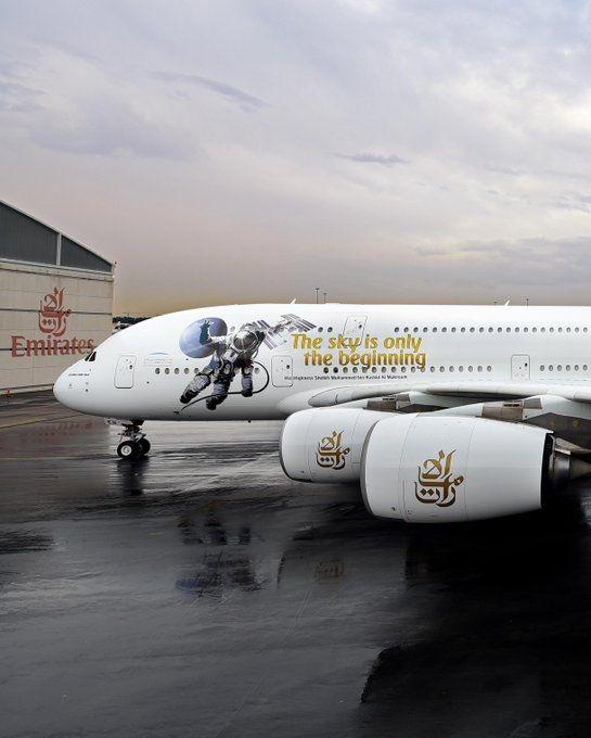 """阿联酋航空""""太空之旅""""特别涂装"""