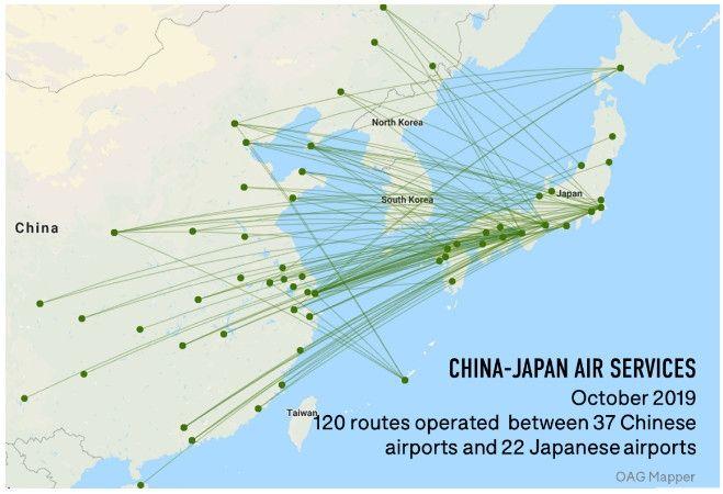 中日航线图