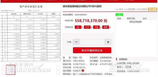 评估价7.98亿!德宏南亚通航100%股权即将拍卖