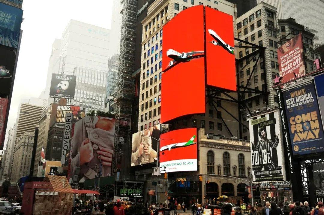 长荣航空亮相纽约时代广场:台北,转机前往亚洲的最好选择