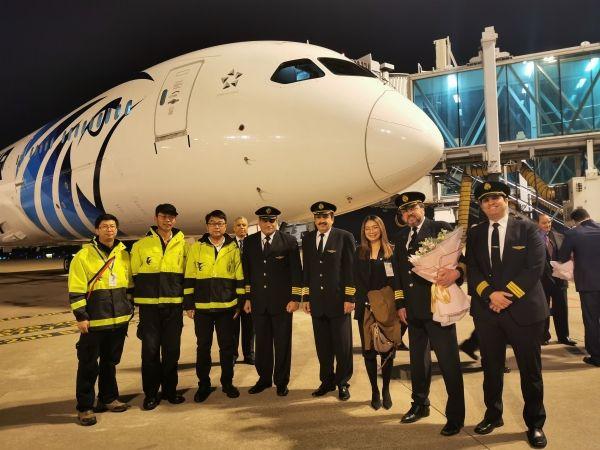 东航技术浙江分公司顺利保障埃及航空首航
