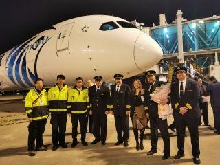 東航技術浙江分公司順利保障埃及航空首航