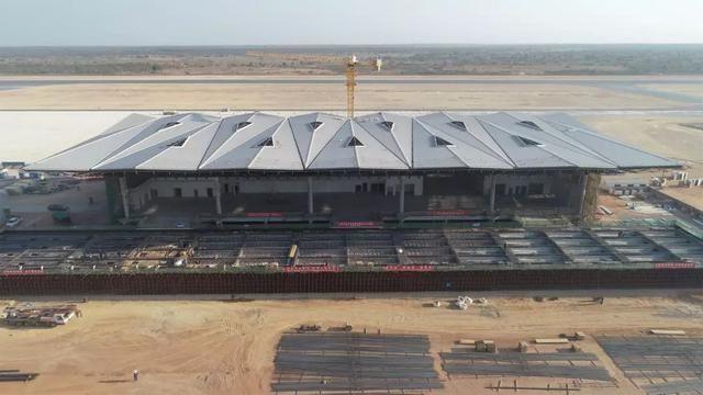 赞比亚恩多拉国际机场航站楼正式封顶