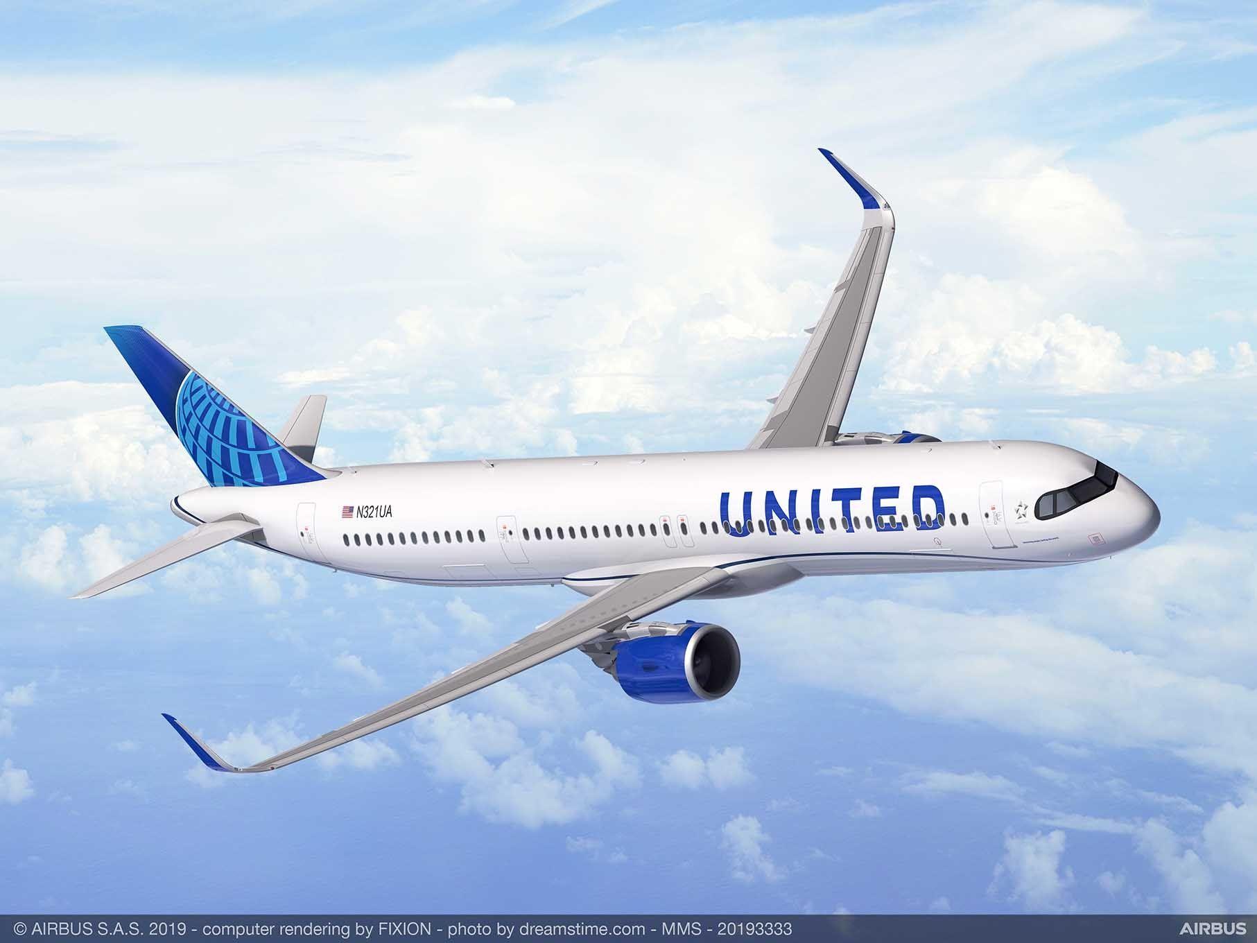 美国联合航空订购50架超远程型空客A321XLR飞机