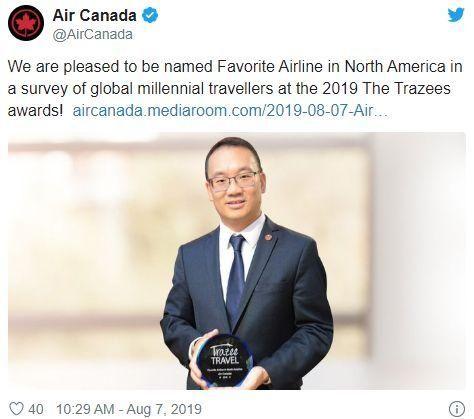加拿大航空从最好变最烂!美联航为倒数第一