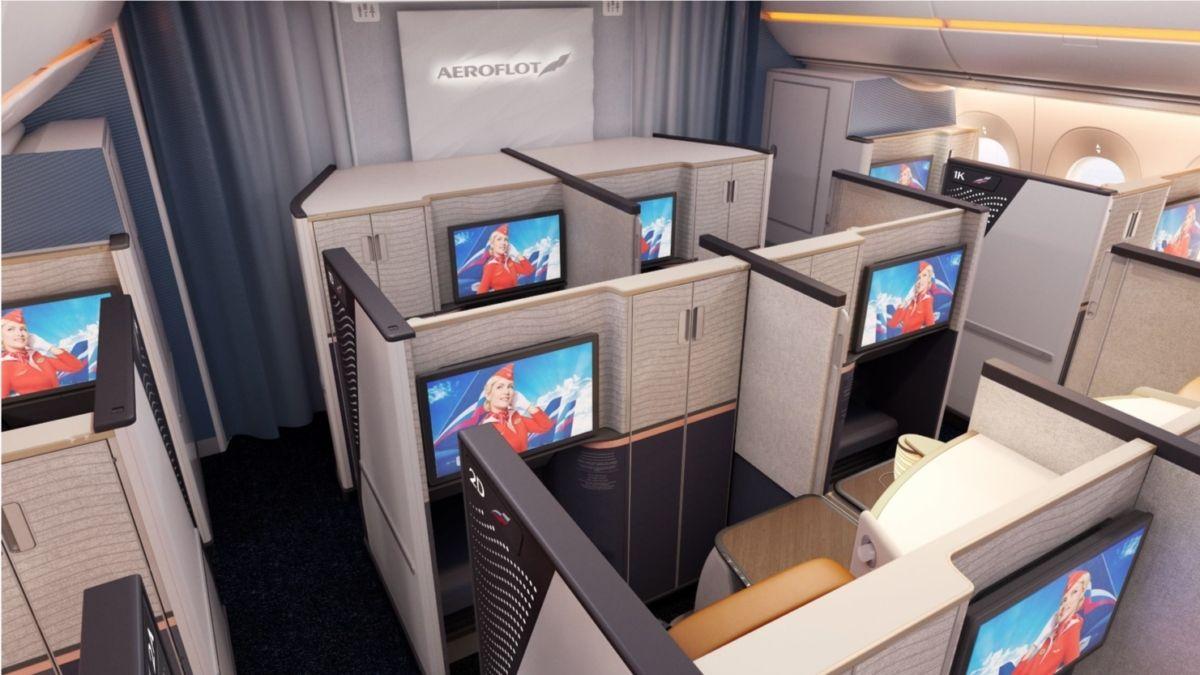 图:俄航A350商务舱