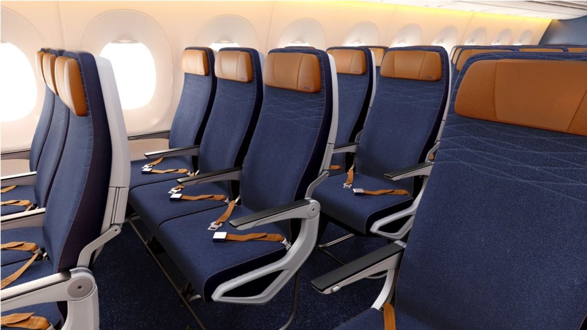 图:俄航A350高级经济舱