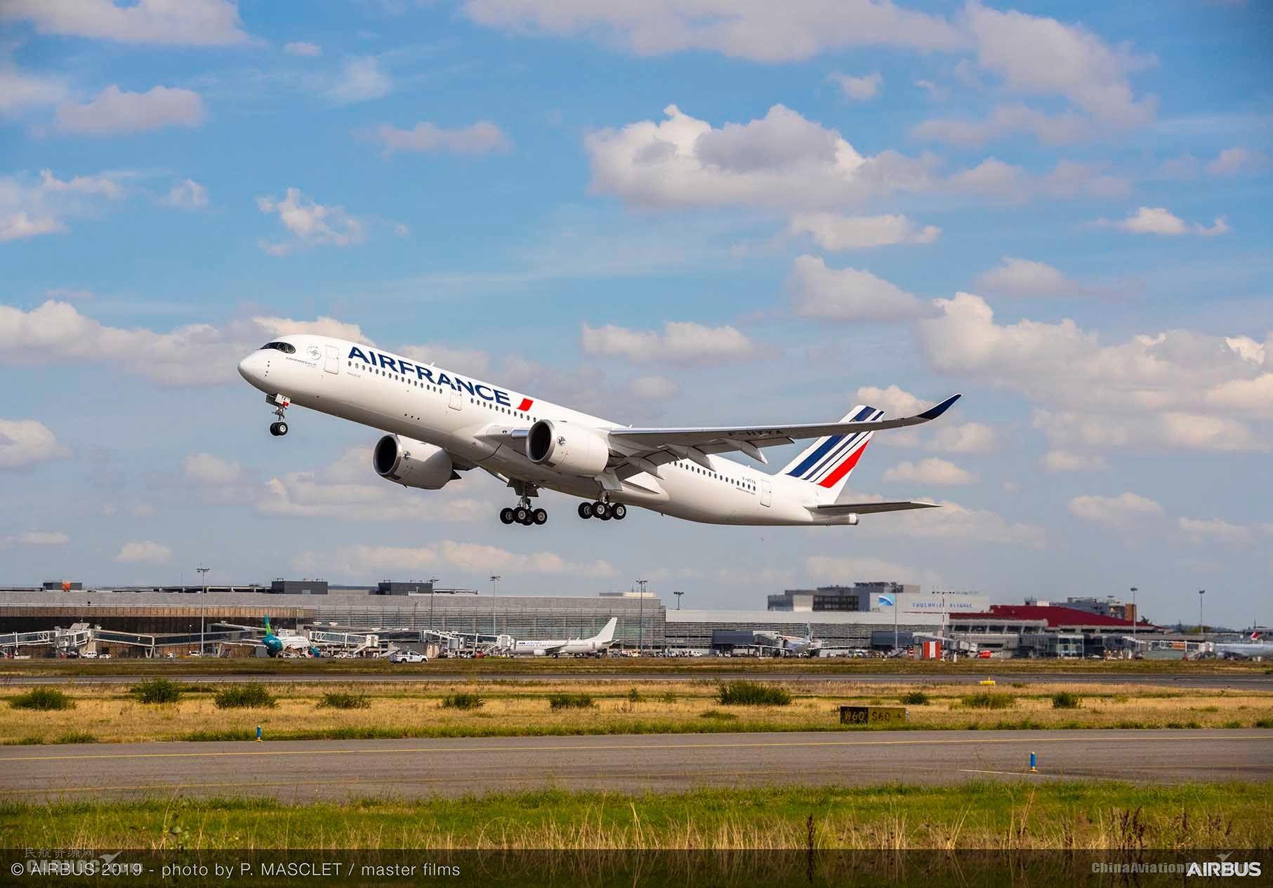法荷航集团增购10架空客A350XWB宽体飞机
