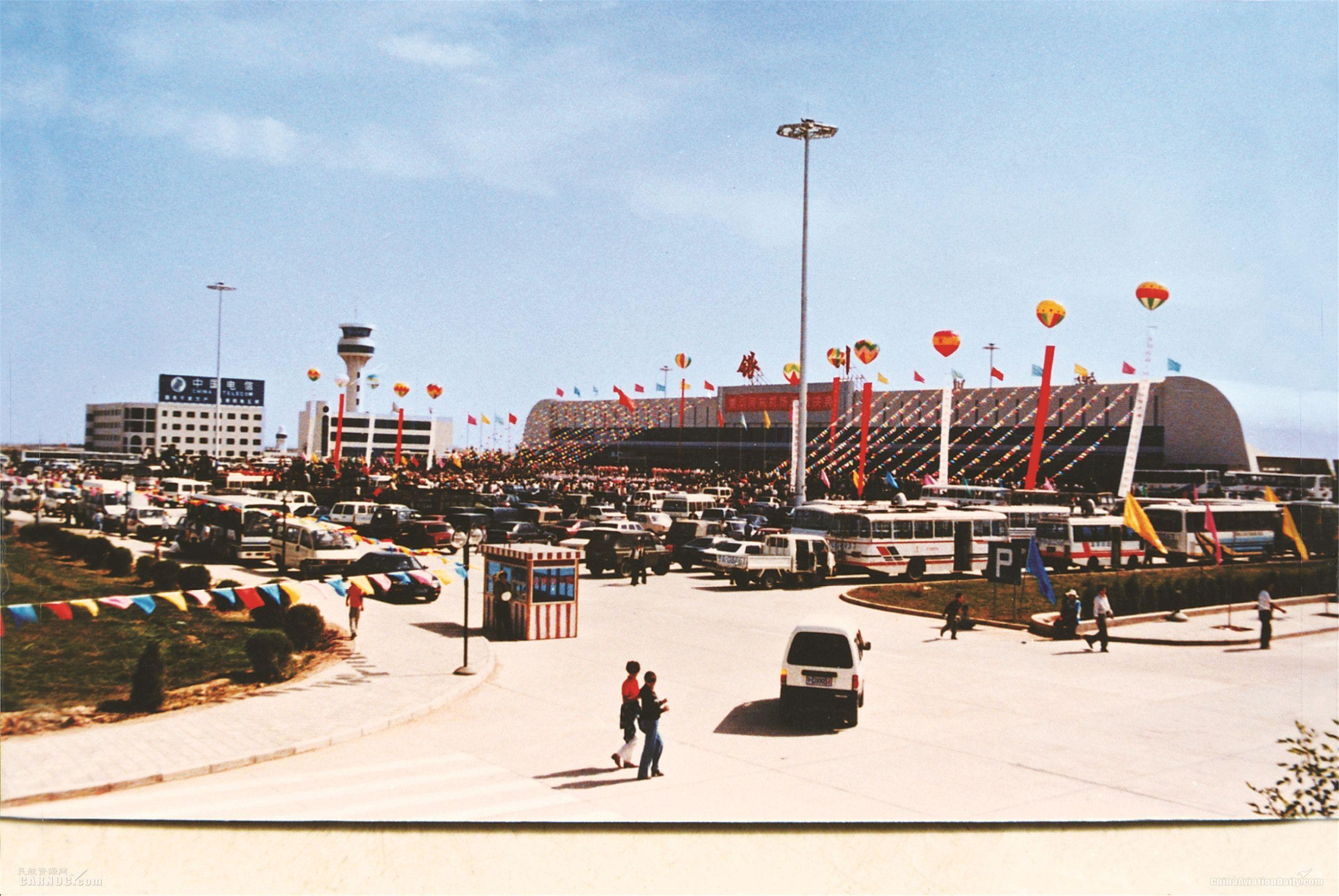 1997年9月6日银川河东机场通航          机场供图