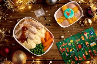 Emirates' Christmas meal for economy class