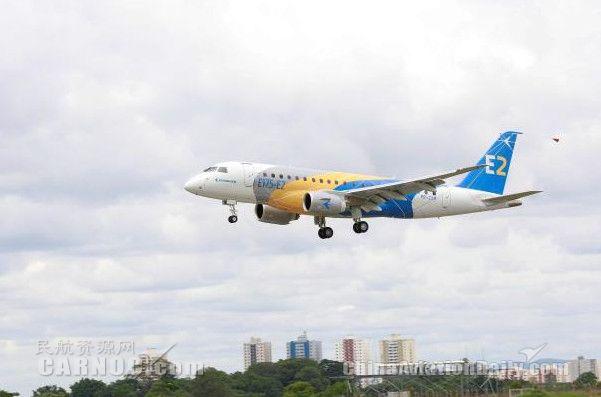 巴航工業首架E175-E2成功完成首飛