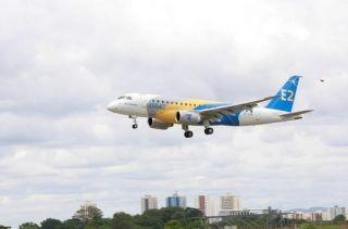 巴航工业首架E175-E2成功完成首飞
