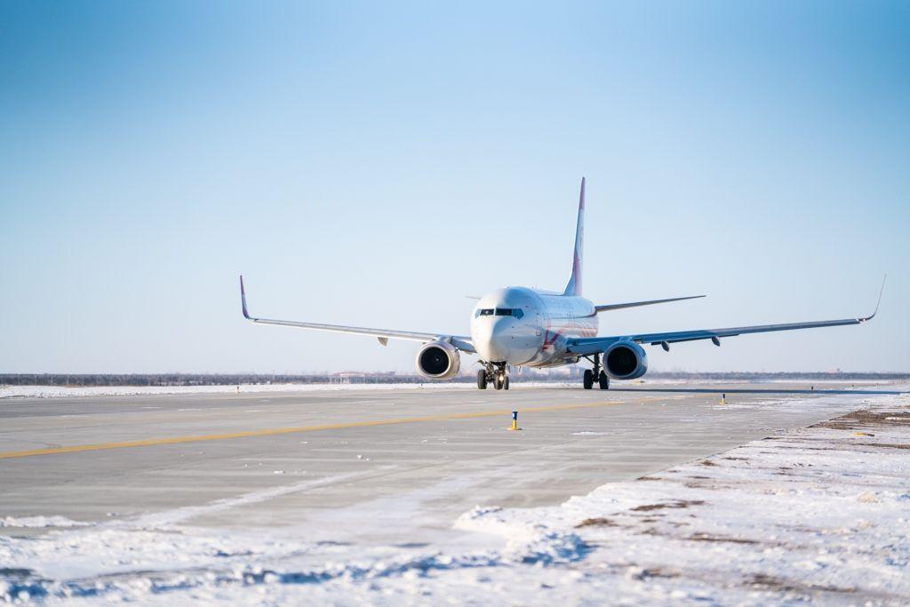 """内蒙古""""三北地区""""第一条等长度支线机场新建平行滑行道投用"""