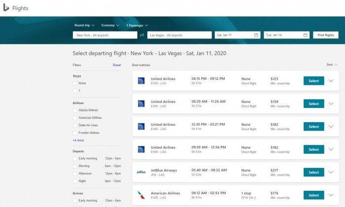 微软宣布在Bing推出新航班预订体验:更快捷方便