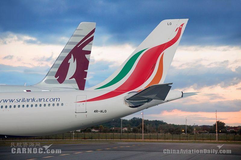 斯里兰卡航空通过与卡塔尔航空共享代码,新增了18个飞行站点