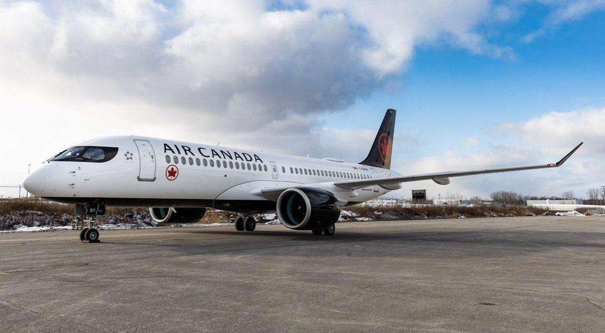 视频:加拿大航空接收首架A220客机