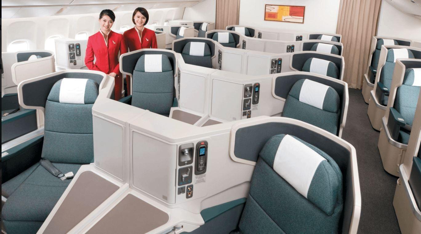 国泰航空2010年的商务舱座椅设置