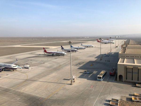 吐鲁番机场首次保障空客A330宽体客机