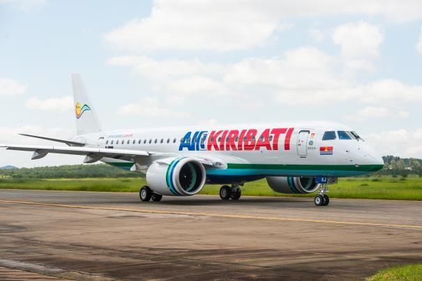 基里巴斯航空接收首架巴航工业E190-E2喷气飞机