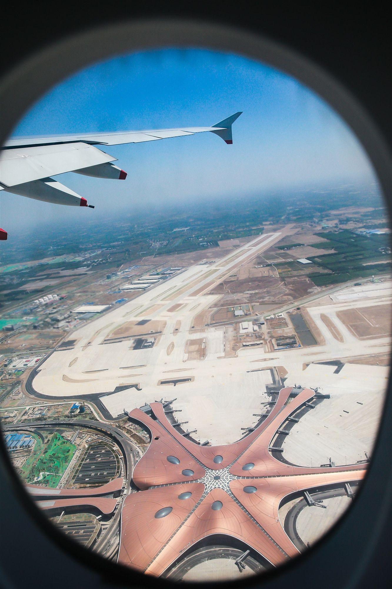 2019年5月13日,北京大兴国际机场进行真机试飞。作为大兴国际机场份额最大的主基地航空公司,南航派出旗舰机型、世界上最大的客机A380率先完成试飞-刘艺