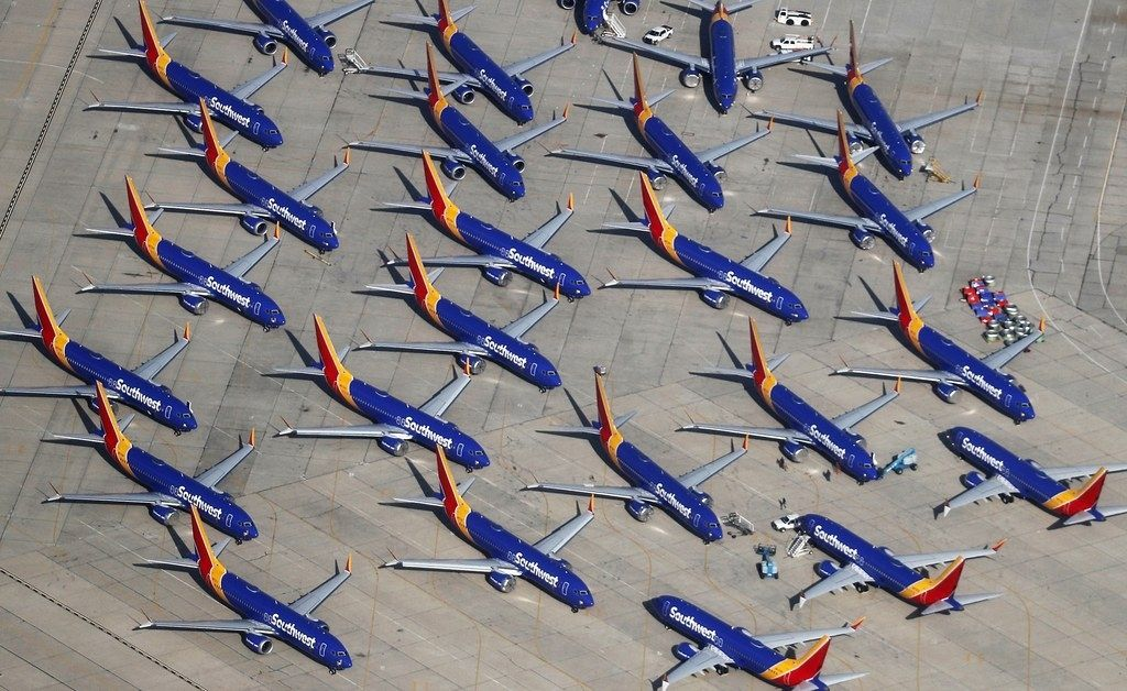 西南航空停飞的737MAX