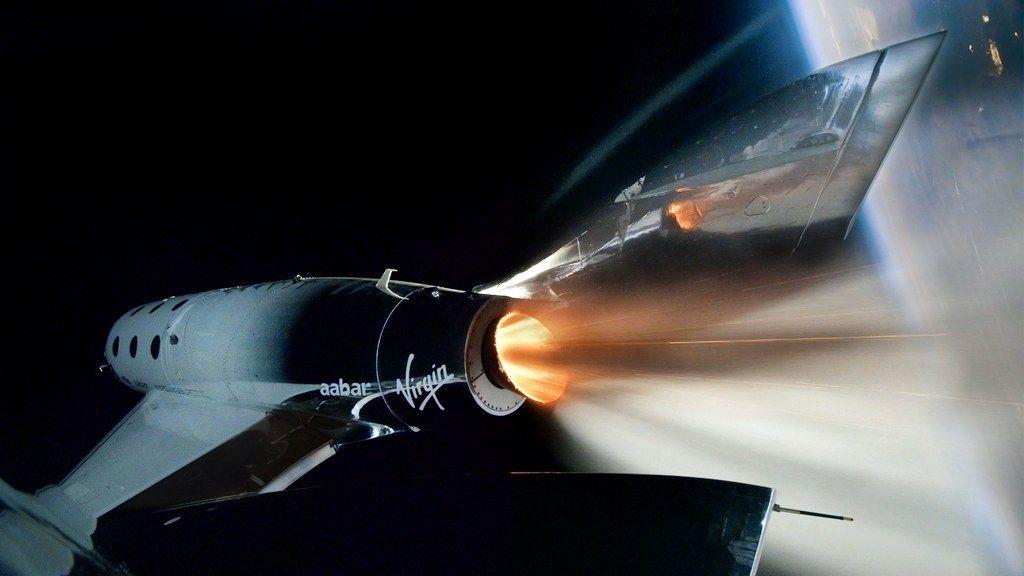 维珍银河的飞船在太空边缘