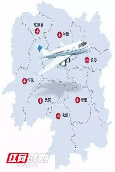 2019年湖南机场新增航线50条 通航166个机场