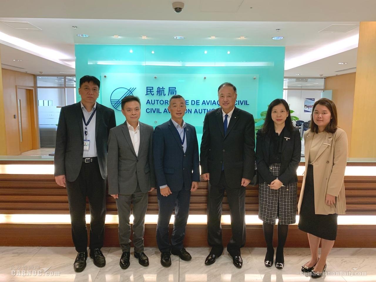 澳门机场邓军主席一行拜访澳门民航局陈颖雄局长 立下2020年工作项目