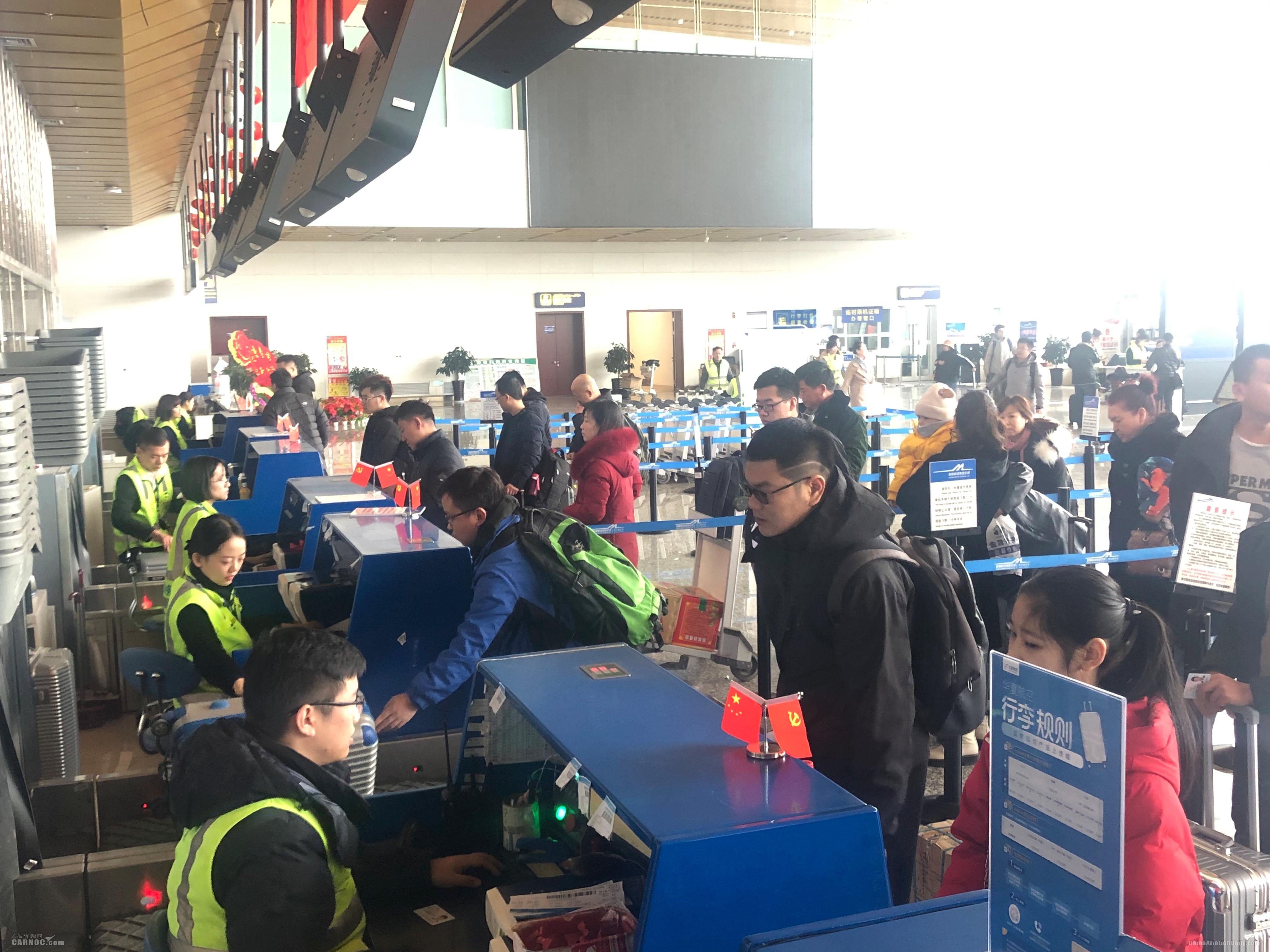 春运第一天,库尔勒机场旅客吞吐量超6500人