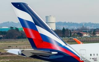 惊艳!俄航首架A350新涂装亮相 (摄影:French Painter)