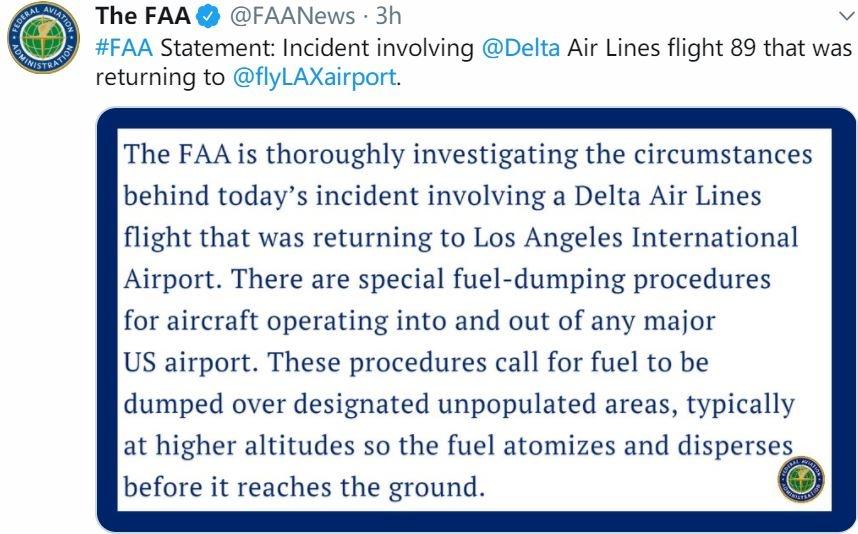 FAA声明