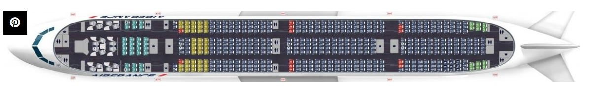 感觉有点儿挤?法航新推出472座777-300客舱
