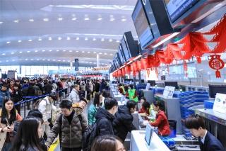 南京禄口机场春运航空出行高峰提前来到